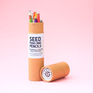 Plantable Pen Pencil Stationery Box in Recycled Kraft Paper