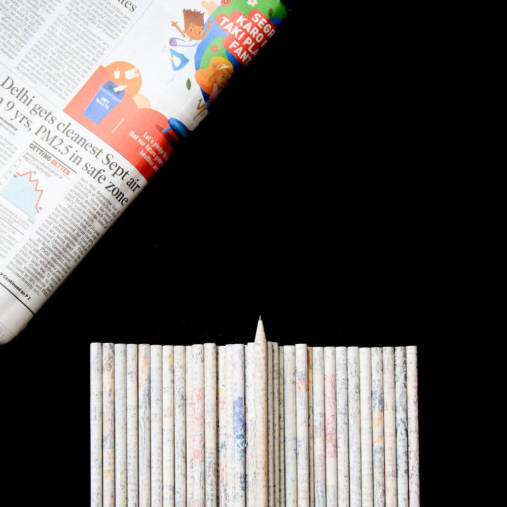 Recycled Newspaper Pencil