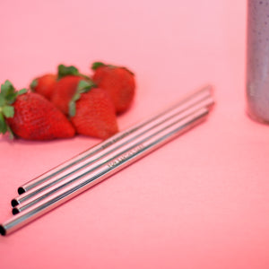 Silver Thick Metal Straws (8mm, straight)