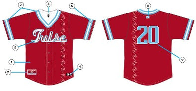 Tulsa Drillers 2020 TCL Official Jersey