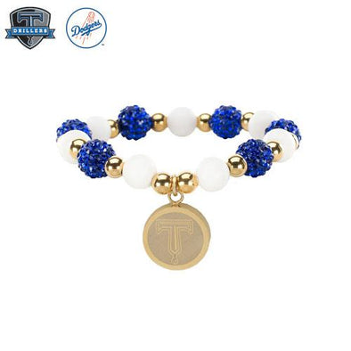 Tulsa Drillers Rustic Cuff Fairy Tale Gold Blue White
