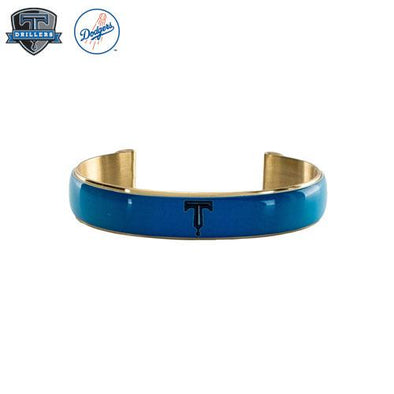 Tulsa Drillers Rustic Cuff Art Deco .5 Blue