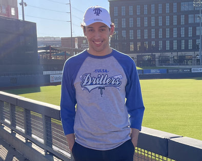 "Tulsa Drillers 3/4 Sleeve Adult Raglan ""Badnews"""