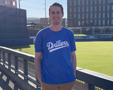 Tulsa Drillers Men's Royal Script Tee
