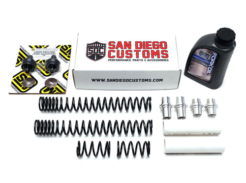 SDC 49mm Dual Rate Adjustable Fork Spring Kit - Installation package