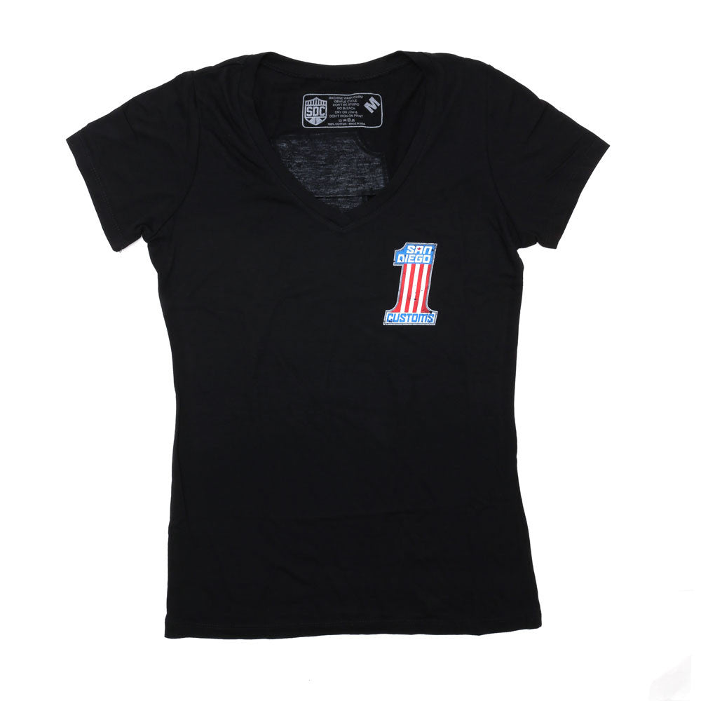 Womens No 1 V-Neck S/S Tee