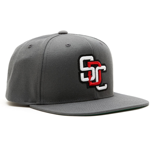 Home Run Snap Back Hat - GREY