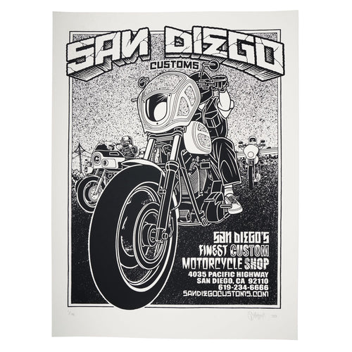 MIKE GIANT SDC POSTER - B&W