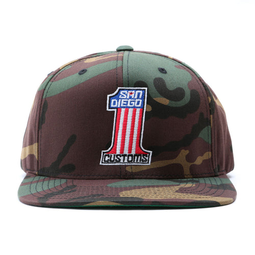 Number One Snap Back Hat - CAMO