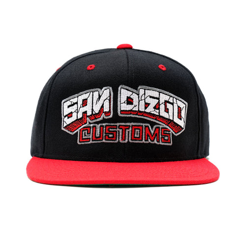SDC x GIANT Snap Back Hat - BLK/RED