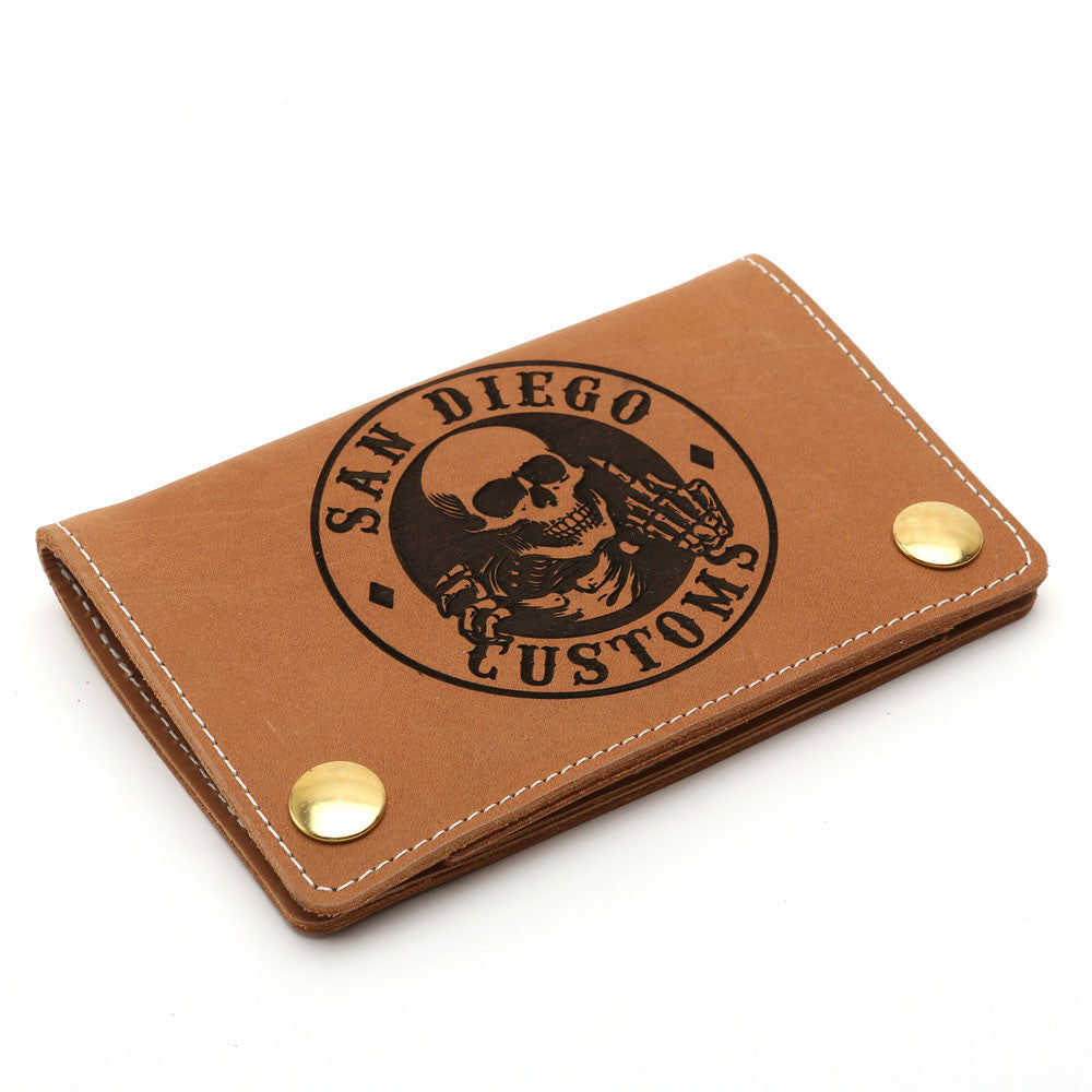 Mini Trucker Ripper Leather Wallet Rust