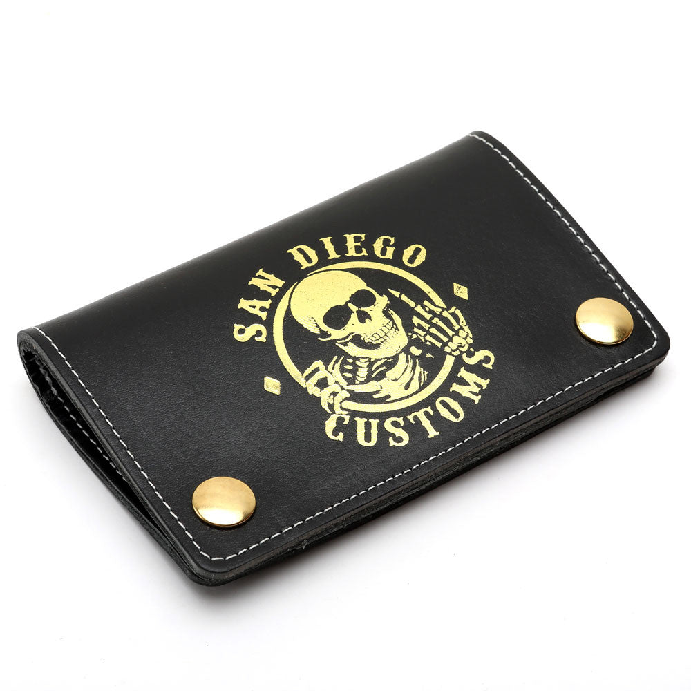 Mini Trucker Ripper Leather Wallet Black