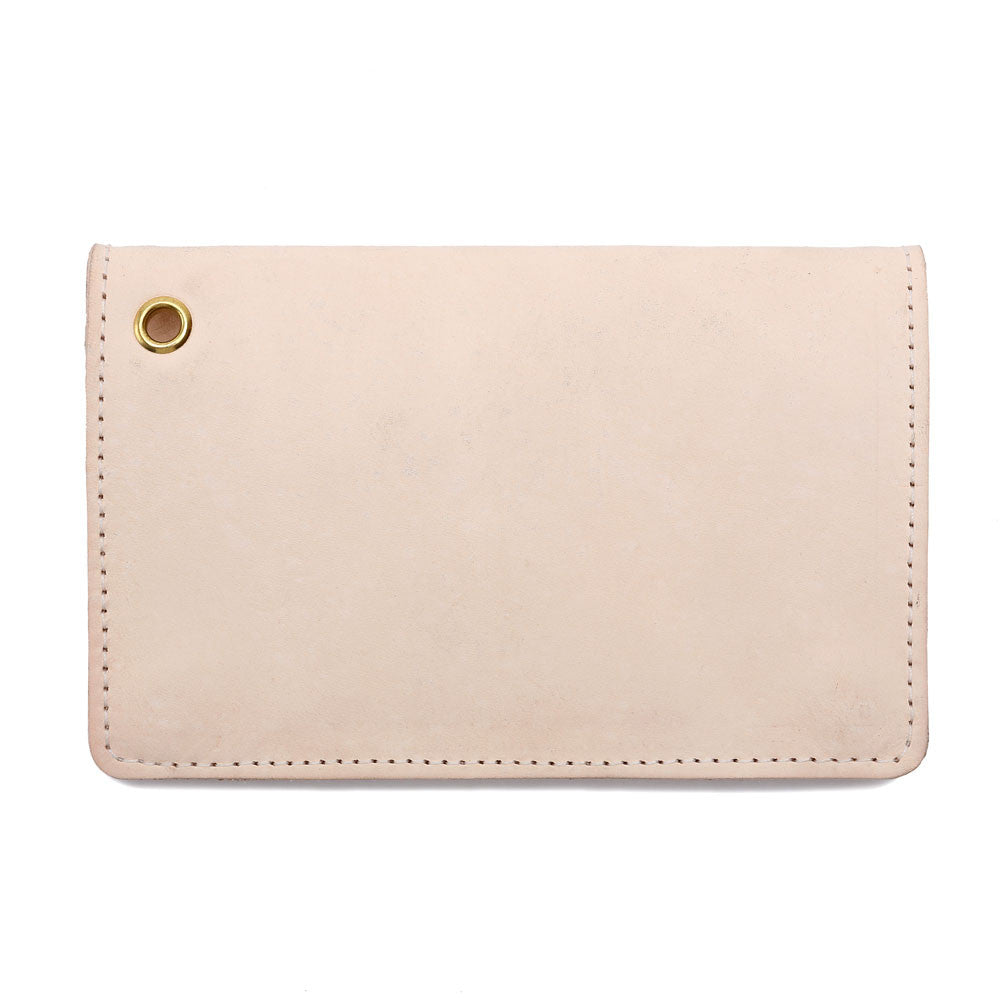 Mini Trucker GFY Leather Wallet Natural