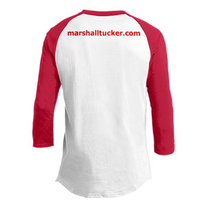 Red and White Raglan