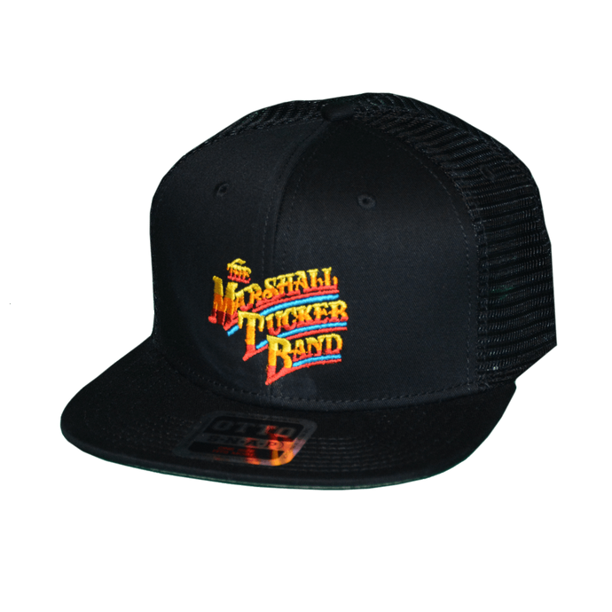 Gradient Style Black Trucker Hat