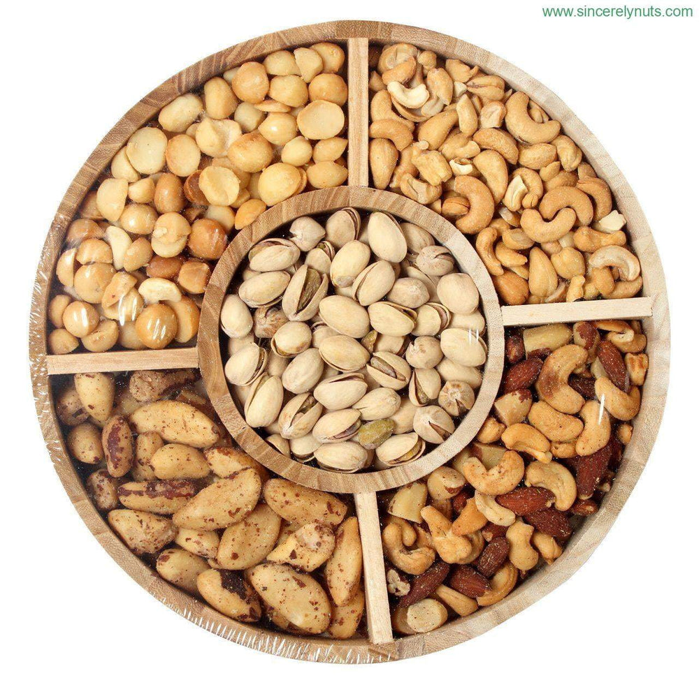 Deluxe Unsalted Mixed Nuts tray - Sincerely Nuts