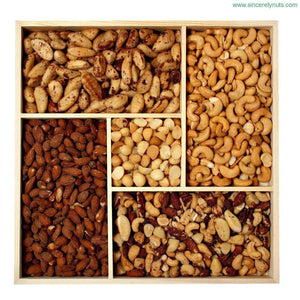 Super Deluxe Unsalted Nuts Gift Tray - Sincerely Nuts