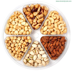 Unsalted Nuts Gift Tray - Sincerely Nuts