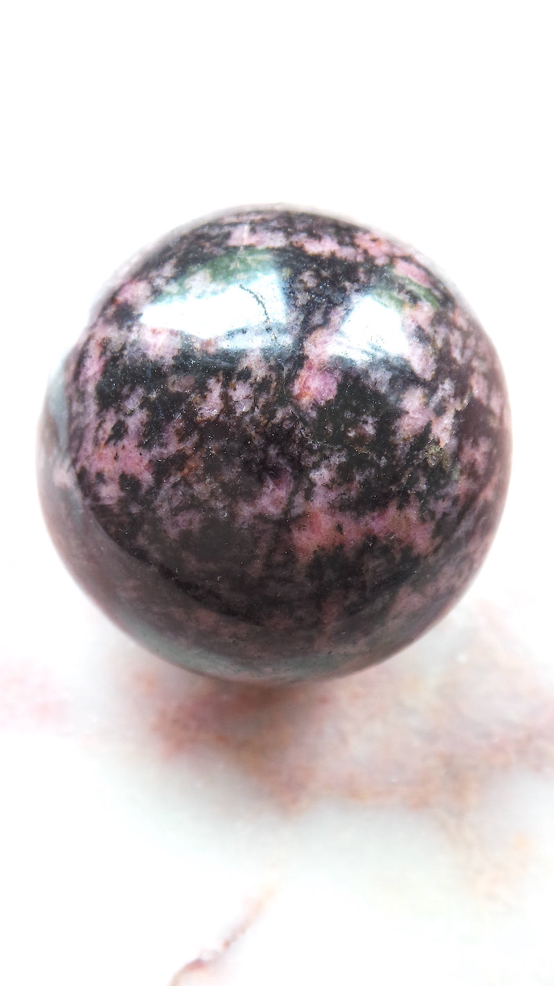 Large Rhodonite Sphere
