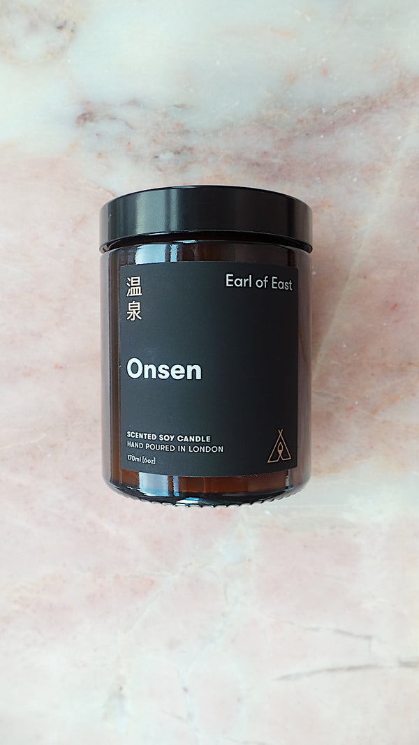Onsen Candle & Honey Calcite