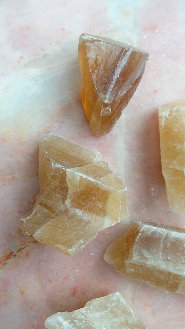 Small Honey Calcite, Somerset UK