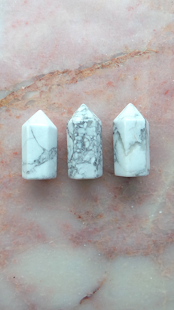 Small Howlite Points