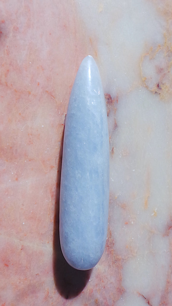 Large Blue Calcite Massage Wand