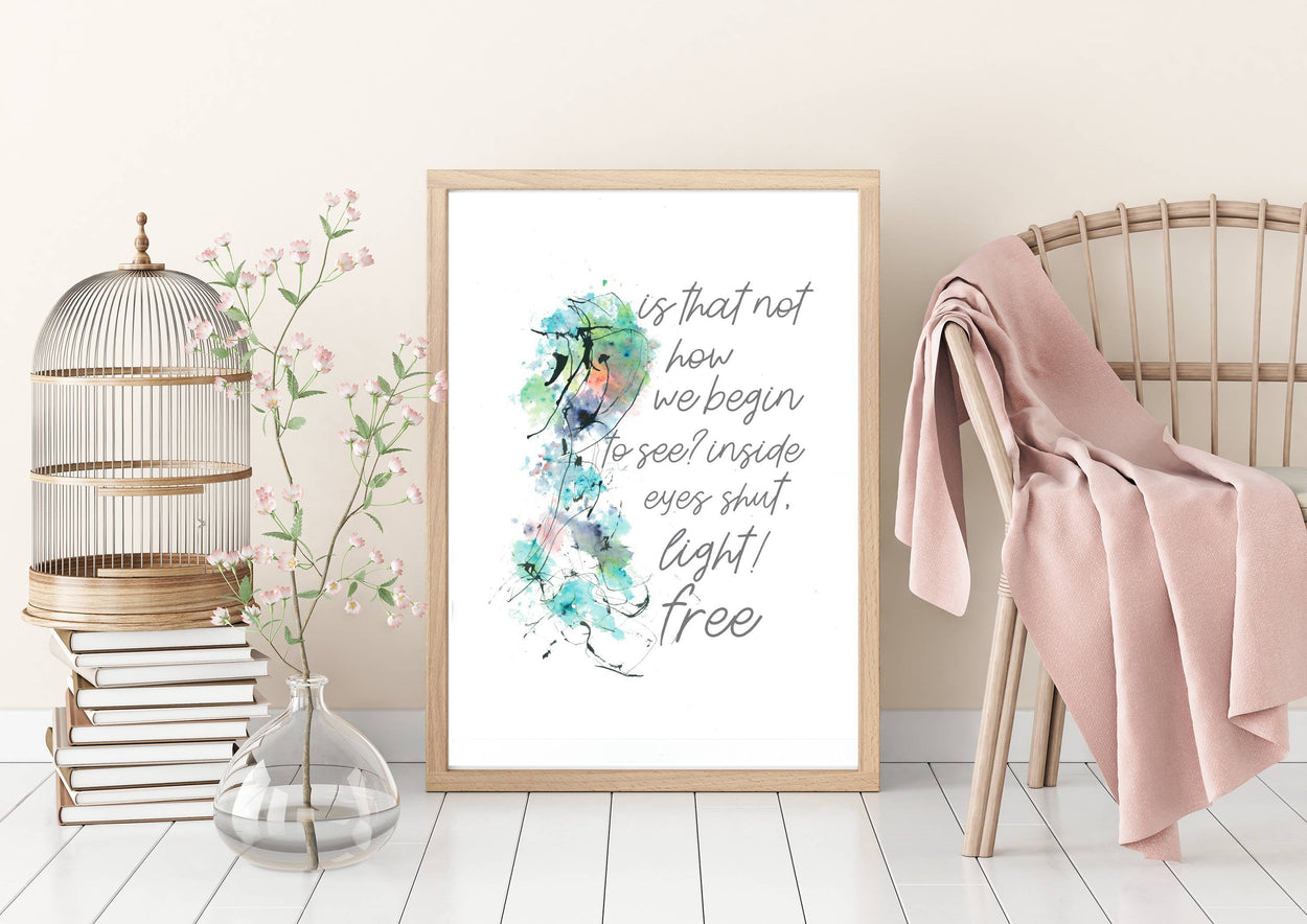 carte personalizataWall art - Inspirational white verse - Light.Free - weevle