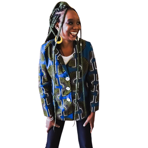 Mary.Afro Slow Fashion - Blazer Alongado Ankara