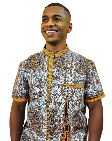 Mary.Afro Slow Fashion - Camisa Masculina - Wax Print