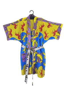 Berimbau Brasil Slow Fashion - Kimono Afro Exclusivo 3