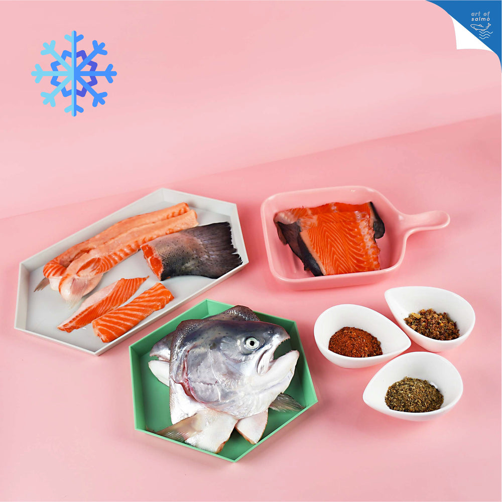 frozen salmó head bone belly set | outstation