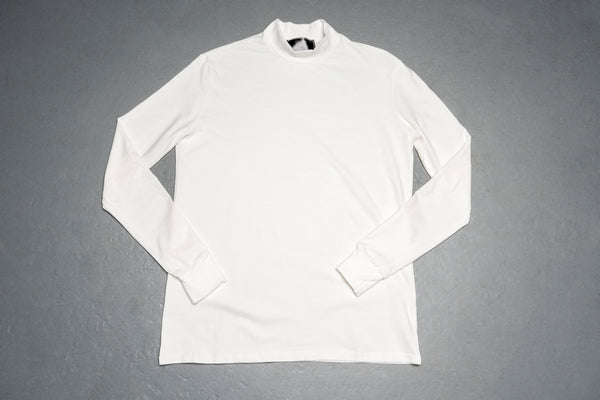 White Mock Long Sleeve Tee