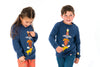 ALBERTA Intarsia & Embroidery Tootsa Tots Knit Jumper/True Navy