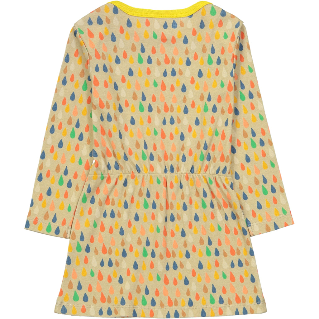 ARASHI Organic Cotton 1x1 rib Tootsa Tots Dress/Almond