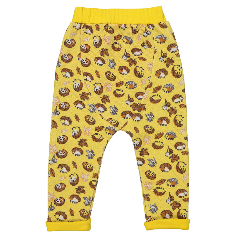 BUSH BABY Organic Cotton Baby Unisex Quilted Trousers/Mustard