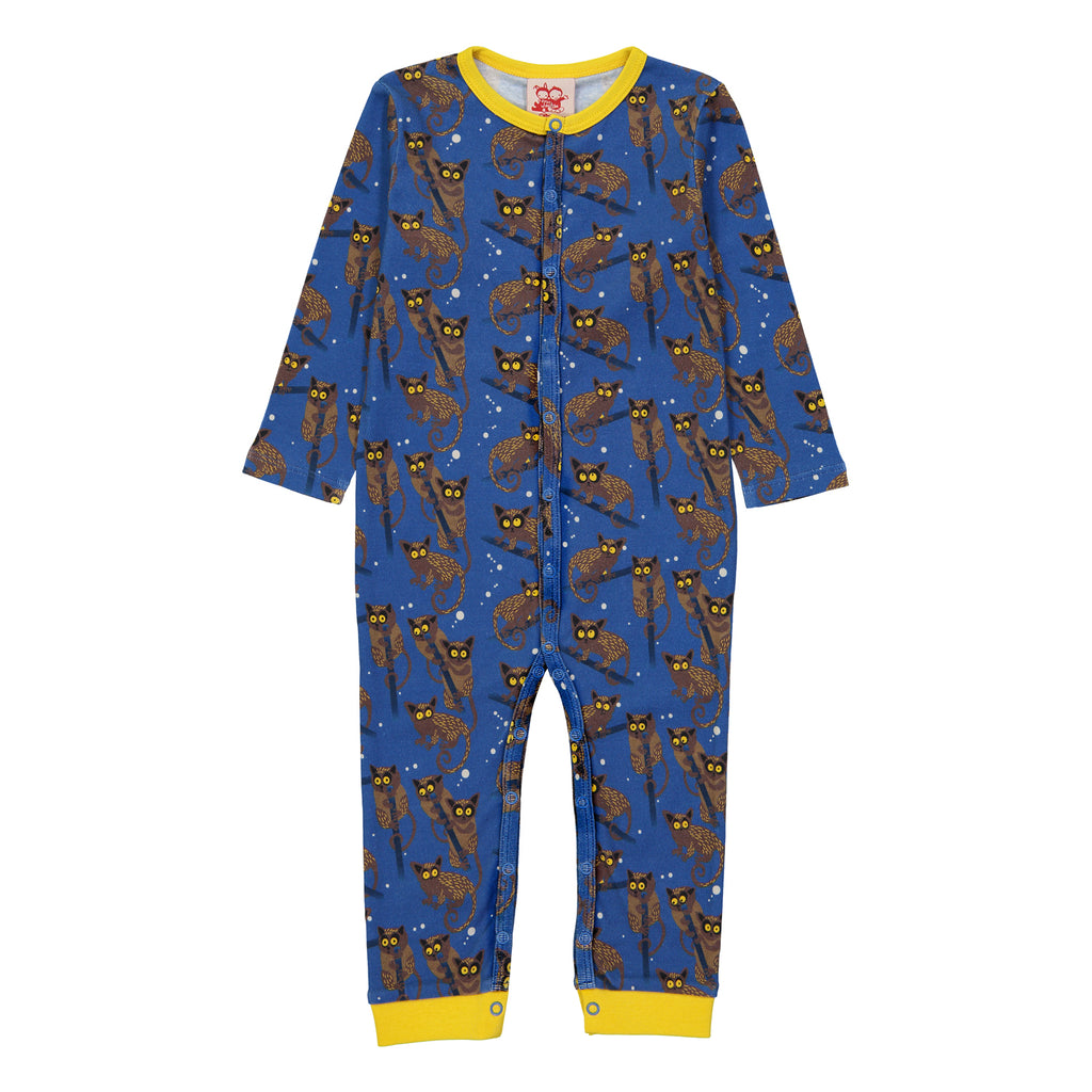 GALAGOS Baby Unisex Organic Cotton Romper/Federal Blue
