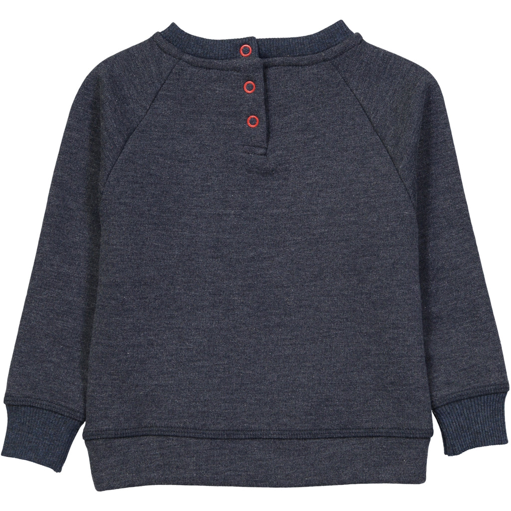 HOSHIKO Organic Cotton Embroidered Sweatshirt/Denim