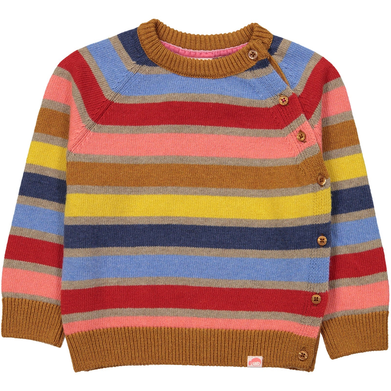 KASUMI Tootsa Tots Knit Jumper/Toffee (Striped)