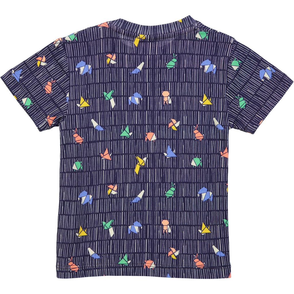 ORIGAMI All over printed Tootsa Tots T-Shirt/Navy