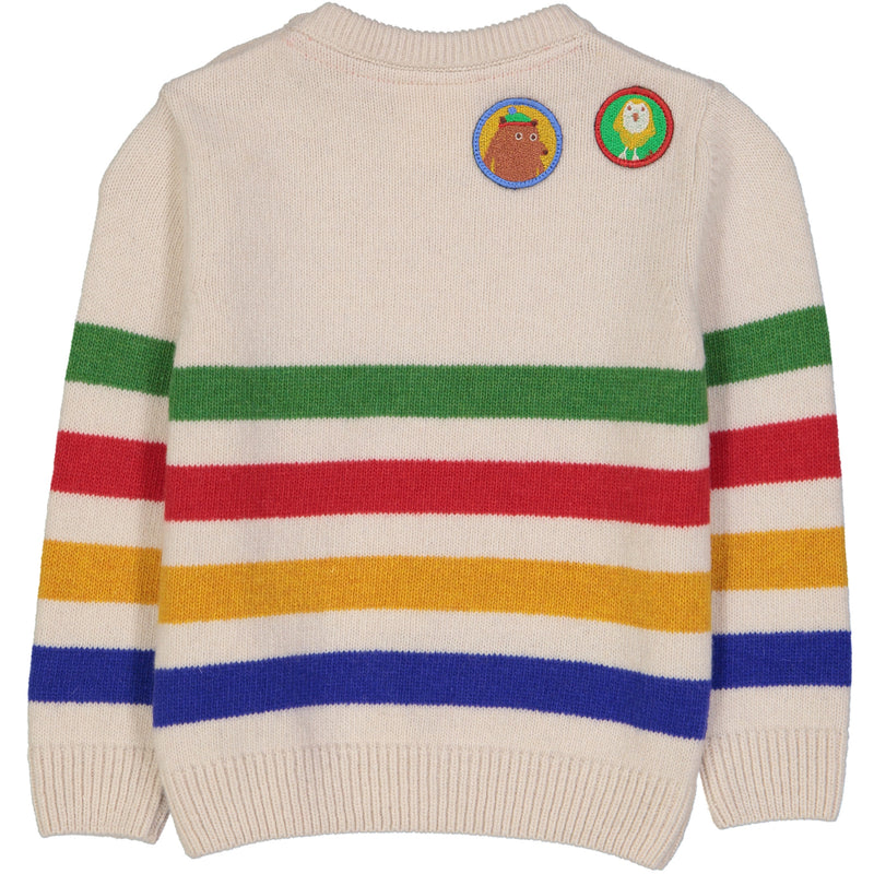 ONTARIO Baby Tots Striped Knit Jumper/Cream