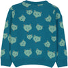 QUEBEC Baby Tots Jacquard Pique Knit Jumper/Stormy Blue (Bears)