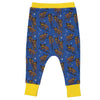 RHINO Baby Unisex Organic Cotton Harem Pants/Federal Blue