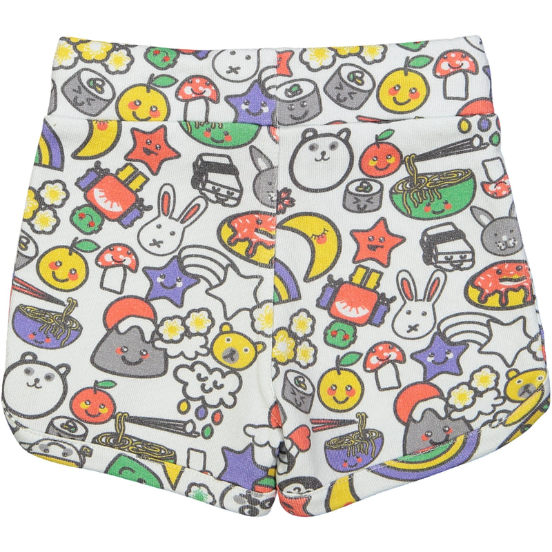 SOPORRO Tootsa Tots all over printed jersey shorts/White