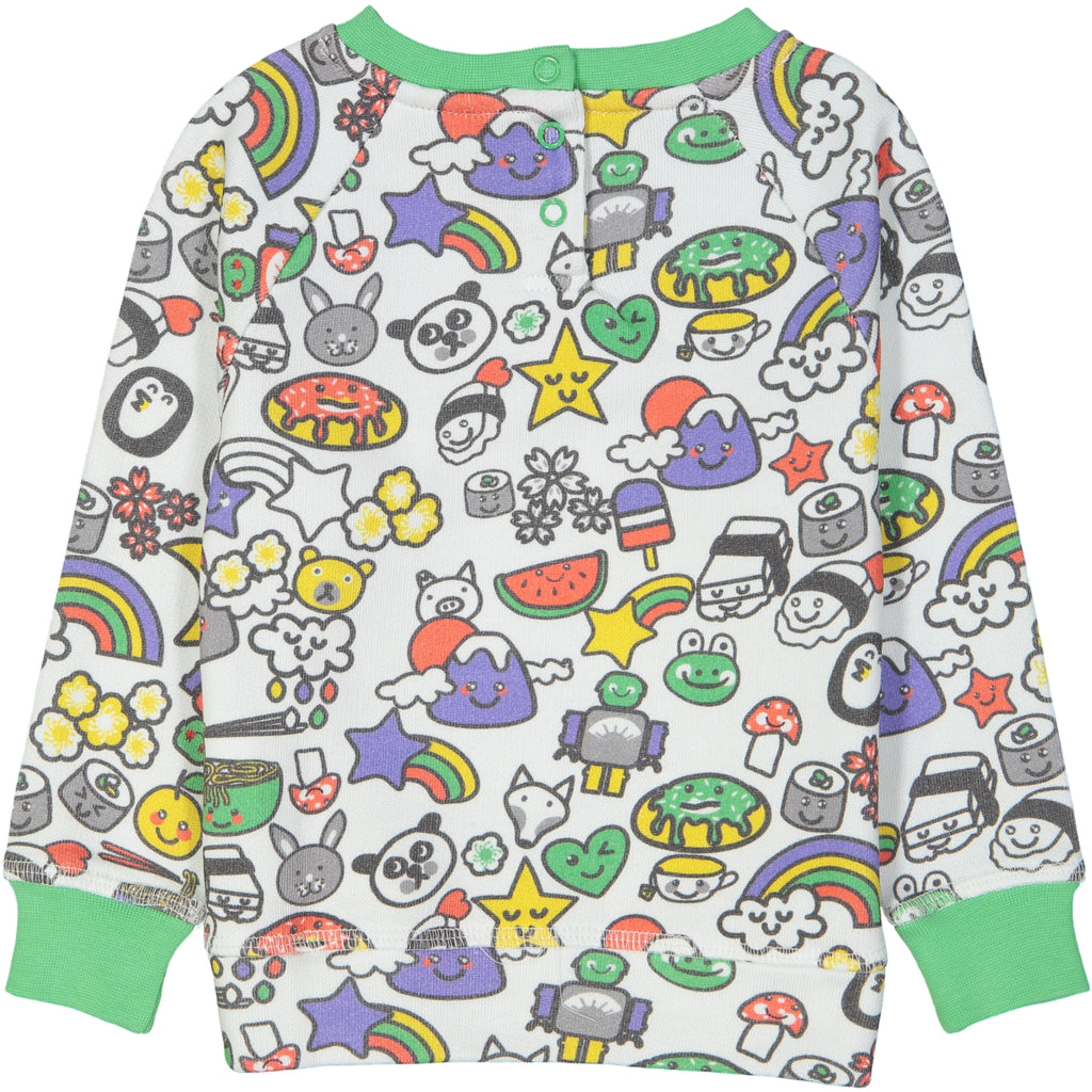 SUZUKI All over printed Tootsa Tots sweatshirt/White