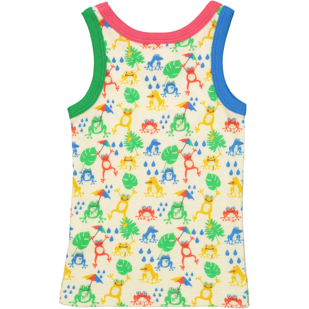 VITORIA all over printed vest top/Cream (Tree Frogs)