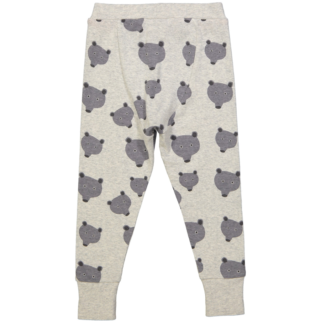 WINNIPEG 1x1 Rib baby Tots Leggings/Light Heather Grey (Bears)