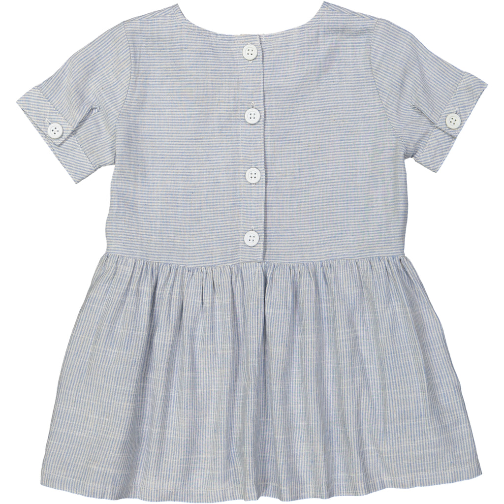 YOKOHAMA Linen & Cotton Smock Dress/Periwinkle