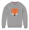 TOOTSA CLASSIC FOX Adult Sized Jacquard Knit Jumper/Grey