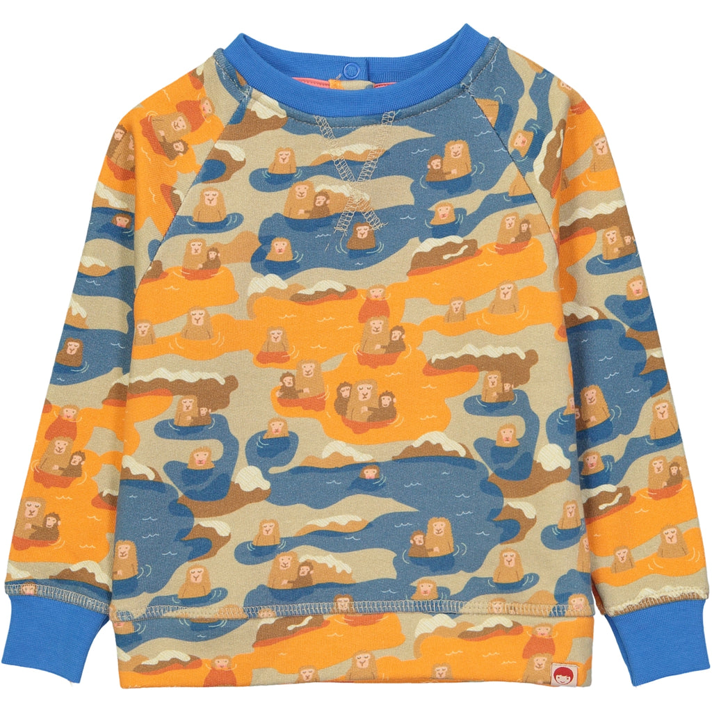AYAKO Organic Cotton Printed Tootsa Tots Sweatshirt/Bright Blue